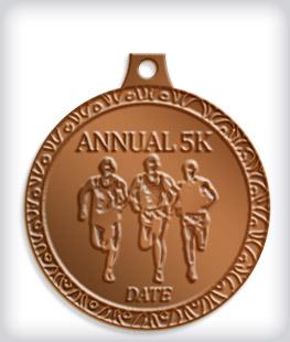 Antique Bronze Custom 5K Medals