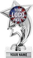 Silver Skyrocket Custom Trophy