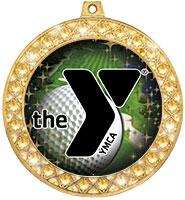 "2 1/2"" YMCA Twinkler Insert Medals"
