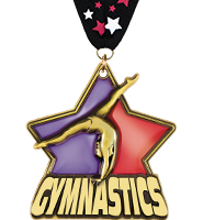 "2 1/4"" Gym Stained Glass Medal"