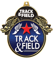 "3"" Track & Field Colorburst Medals"
