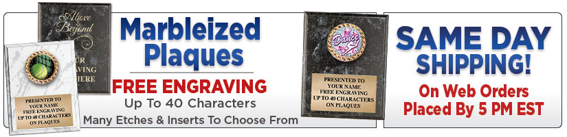 Marbleized Plaques