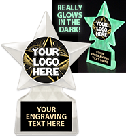 "6 1/2"" Glow In the Dark Star Custom Trophy"