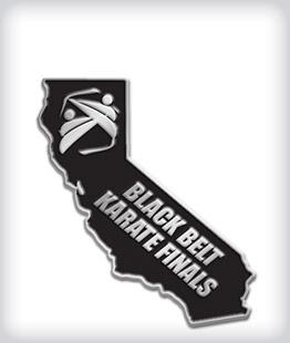 Custom State Shaped Martial Arts Pins