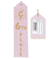 6th Place Award Ribbon