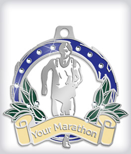 Rhinestone Custom Marathon Medals