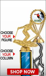 Skiing Column Trophies