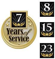 Years Service Insert Pins