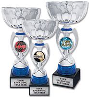 Silver Blue Ribbon Insert Cup Trophies