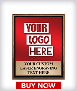Custom Wood Logo Plaque