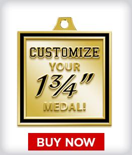 """Custom 1 ¾"""" Medal"""