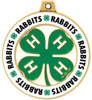 """2"""" 4-H Rabbits Rimz Medal"""