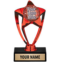 Red Star Custom Insert Trophy