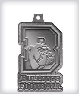 Antique Silver Custom Mascot Medals