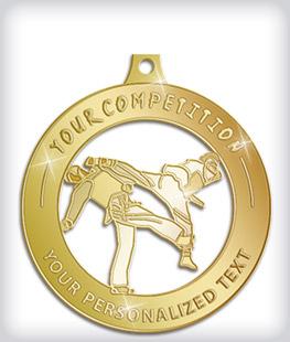 Shiny Gold Custom Martial Arts Medals