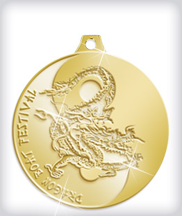 Shiny Gold Custom Dragon Boat Medals