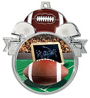 "3"" Football Colorburst Medals"