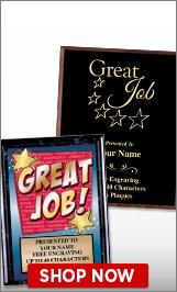 Great Job Plaques