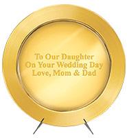 Gold Wedding Metal Salver