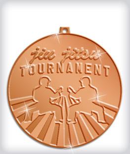 Shiny Bronze Custom Martial Arts Medals