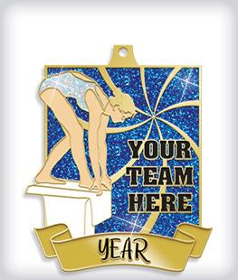 Glitter Custom Swim Medals
