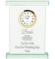 Oxford Jade Crystal Clock