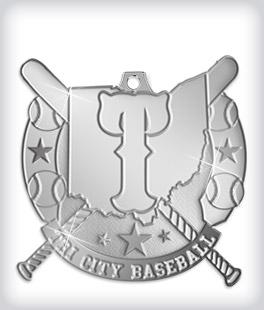 Shiny Silver Custom Baseball Medals