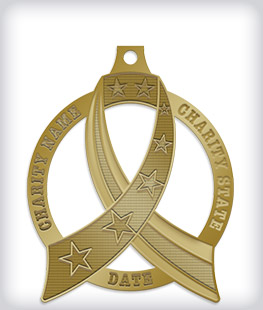 Antique Gold Custom Awareness Medals