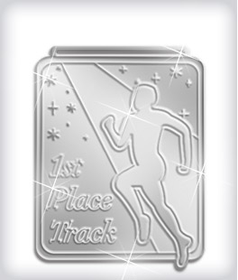 Shiny Silver Custom Track Medals