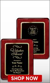 Volunteer Awards Plaque