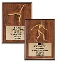 Sculpted Figure Mount Wood Plaques