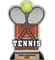 Spectrum Acrylic Tennis Trophy