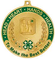 """2 1/2"""" 4-H Leadership Medal"""