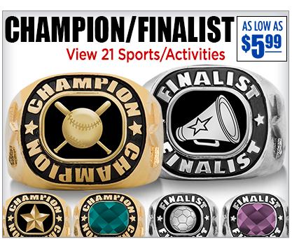 Champion Finalist Rings