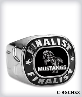 Custom Metal Inlay Finalist Ring