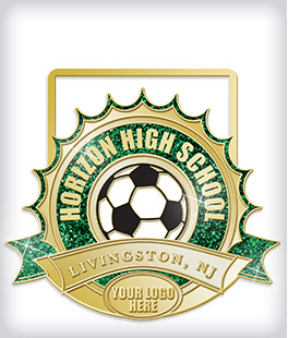 Glitter Custom Soccer Medals