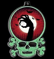 """3"""" Glow-In-The-Dark Skull Insert Medal"""