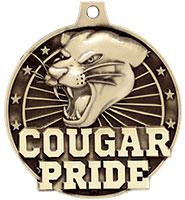 "2"" 3D Cougar Pride Medal"