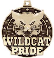 "2"" 3D Wildcat Pride Medal"