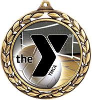 "2 1/2"" YMCA Laurel Wreath Insert Medals"