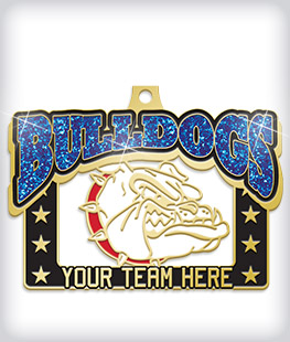 Glitter Custom Mascot Medals