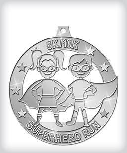 Shiny Silver Custom Running Medals