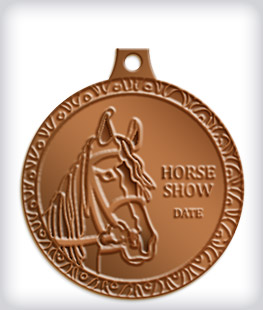 Antique Bronze Custom Equestrian Medals