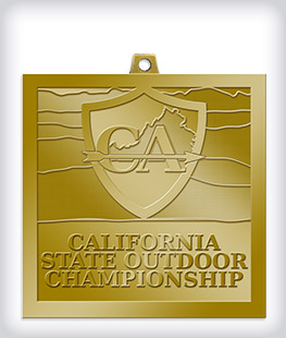Antique Gold Custom Community Event Medals