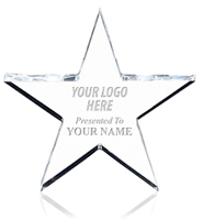 Acrylic Star Paperweight