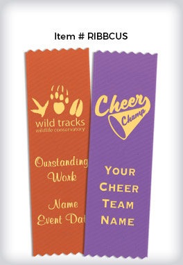 Custom Pinked Place Ribbons with Your Logo