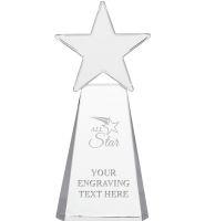 Clear Dynostar Crystal Awards