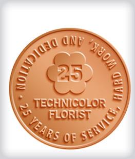 Shiny Bronze Customer Years of Service Pins