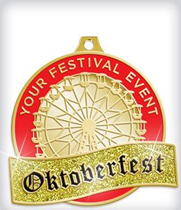 Glitter Custom Oktoberfest Medals