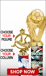 Soccer Column Trophies